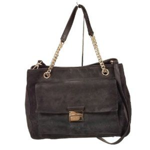 Black Kate Spade Suede Purse with Chain Straps